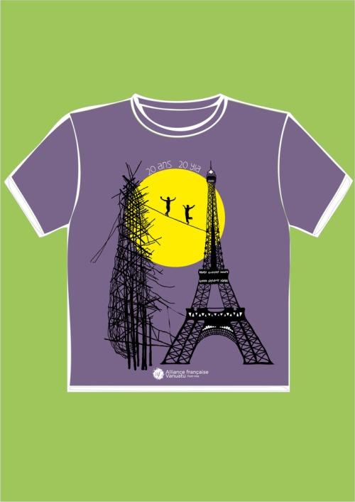 T-shirtcviolet-gaul-eiffel