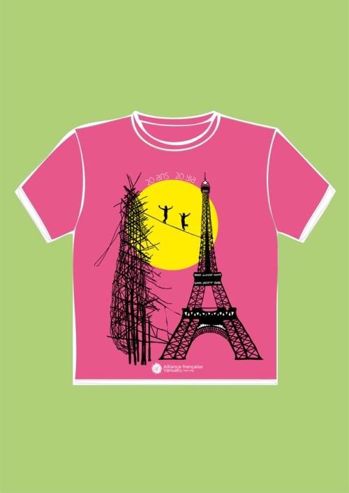 T-shirtrose-gaul-eiffel